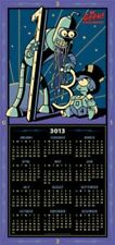 SDCC 2013 Exclusive FUTURAMA Groening Poster Calendar Double Sided VERY RARE