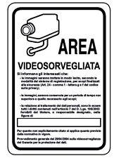 n° 3 ADESIVO cartello segnaletica video sorveglianza mm 300x200 ! 3 pezzi!