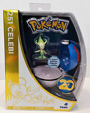Celebi Pokemon 20th Anniversary Figure Limited Edition Pokeball New Greatball