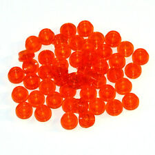Lego Clear Orange 1x1 Round Plate Studded Brick - 50 Parts - 3005747 30057 - NEW