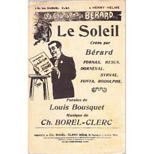 LE SOLEIL chanson / BERARD FORNAX RESCA paroles BOUSQUET musique BOREL-CLERC