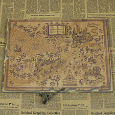 New Fashion Harry Potter Magic World Handmade Map Poster Home Decoration Gifts