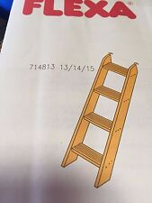 FLEXA 4 STEP WHITE WASH LADDER FOR BUNK BEDS, FLEXA #71481414 OR #80017022 NIB!