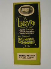 The Liberty Top Brochure Automobile Accessories Liberty Auto Co Oakland 1910's