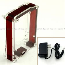 Arduino Uno Case Enclosure Clear Red For Uno R3 DIY US Power Adapter 100-240V AC