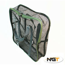 NUOVO NGT grandi Air Dry Boilie Bag 36x11x36cm Carpa / Barbel pesca affrontare 10KG NGT
