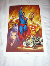 MICHAEL TURNER ASPEN DC MARVEL ART - SUPERMAN #203 ART PRINT BY MICHAEL TURNER
