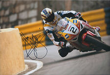 John McGUINNESS Signed 12x8 Photo Padgetts HONDA TT LEGEND Autograph AFTAL COA