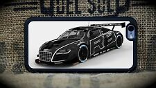 Audi R8 Custom Black iPhone 5C through 7S+Samsung Galaxy S5,S6 or S7  phone case