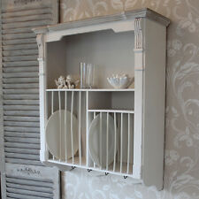 PANNA Wall Mounted Plate Rack cucina stoviglie francese COUNTRY SHABBY VINTAGE