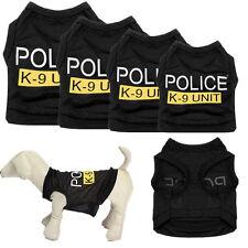 Small Dog Cat Vest Police Puppy T-Shirt Coat Pet Clothes Summer Apparel Costumes