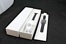 NEW Apple Watch 42mm Stainless Steel Case Black Sport Band MJ3U2LL/A Smartwatch