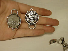 large wolf charm pendant tibetan silver antique style wholesale craft