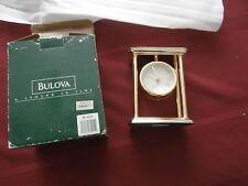 Bulova A Legend in Time  Quartz Mantel Clock - Brass Finish