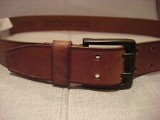 MARC NEW YORK MEN'S N93025/02 38MM LOCK TAN BELT SIZE 38 - BRAND NEW