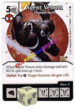 035 AGENT VENOM Thunderbolt - Common -THE AMAZING SPIDER-MAN Marvel Dice Masters