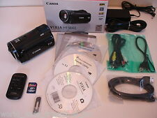 Canon HF M40 16GB High Def Camcorder Remote 32GB Card Software HDMI AV USB Box