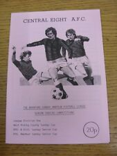 21/04/1983 Central Eight v Queens United  (Excellent Condition)