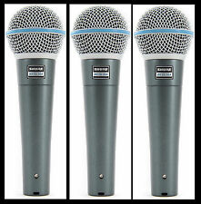 (3) New Shure BETA 58A Vocal Mics Authorised Dealer Make Offer Buy It Now!