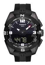 New Tissot T-Touch Watch T0914204705701 Solar Black Silicone Strap Mens