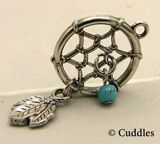 Dream Catcher Ganz Metal Silver Harmony Good Luck Earth Charm Bracelet Necklace