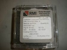 """Rocky Mountain Instrument Co. Uncoated Lens V2-4-1612 REV A   2.5"""""""