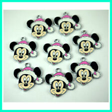 Wholesale 8 pcs Mickey Mouse Face Jewelry Making Metal Figure Charms Pendant