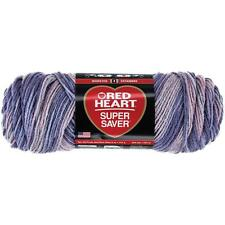 "Red Heart Super Saver Yarn - ""Mulberry Mix"" - 5 OZ Skeins - E300 - 100% Acrylic"