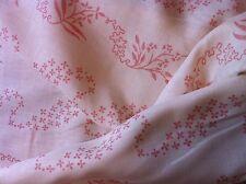 BRUNSCHWIG ET & FILS fabric linen cotton white/pink 'coralina' 28yds  CHARLESTON