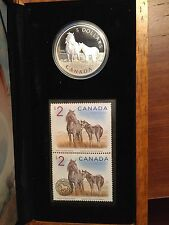 2006 Canada $5 Sable Island Horse & Foal-Coin and Stamp set