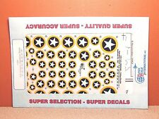 1/72 SUPER SCALE YELLOW OUTLINE WWII US INSIGINIA OPERATION TORCH DECAL SHEET
