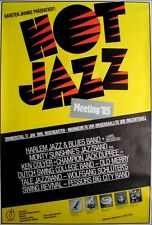 HOT JAZZ MEETING - 1985 - Konzertplakat - Jack Dupree - Ken Colyer - Dutch Swing