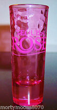 TEQUILA ROSE PINK SHOT GLASS SHOOTER BRAND NEW MINT CONDITION DIMPLED TEXTURE