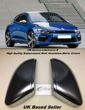 VW Scirocco/Scirocco R Matt Aluminium Replacement Mirror Covers PAIR - UK Seller
