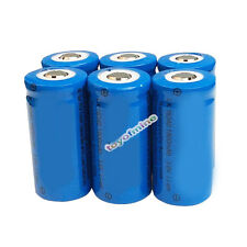 6x 3.6V CR123A 123A 16340 1800mAh Rechargeable Battery for LED Torch