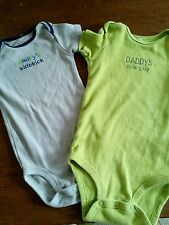 Baby boy short sleeved bodysuit 9-12 month daddys sidekick dads little guy