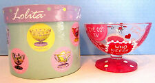 Lolita Ice Cream Dish Love My Sundae Who Needs a Man Glass Hand Painted NIB