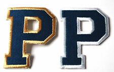 2pc LETTER P (SLIGHT FAULT) Embroidered Sew Iron On Cloth Patch Badge APPLIQUE