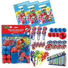 56 pc Super Mario Party Favor Set & Bags - Piñata Fillers