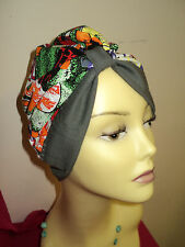multi Cotton/ Polyester Hijab,Turban Alopecia Hat, Hair loss, size 61cm
