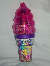 Lisa Frank Cosmetic Pink Ice Cream Cone Bank Ring Nail Stickers Lip Gloss Purple