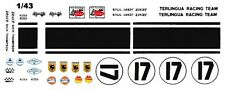 #17 Titus/Thompson 1967 Mustang 1/43rd Scale Slot Car Terlingua Race Team Decals