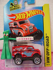 Case K/L 2014 i Hot Wheels MONSTER DAIRY DELIVERY #122✿Red;Stars/Stripe~Off-Road
