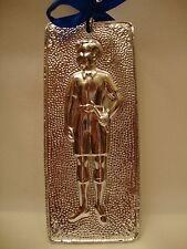"Tama Ex Voto "" Boy "" Greek Russian Orthodox Icon Embossed Metal Plaque"
