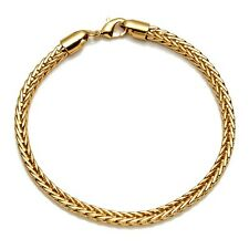 "18K Yellow Gold Filled Mens/Womens square Bracelet 8"" Chain Charms Link Hot Gift"