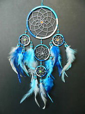 BLUE WHITE TURQUOISE SILVER DREAM CATCHER BOYS GIRLS GIFT DREAMCATCHER UK NEW
