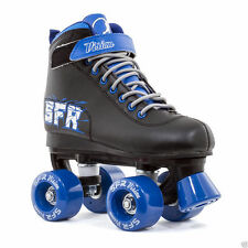 SFR Black Vision II Quad Roller Skates with Skate Bag! Suitable for Jnr 11