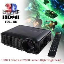 Home Theater Projector 5000 Lumens HD 1080P 3D LED Portable SD HDMI VGA USB NEW
