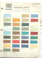 1972 FORD TRUCK R-M  COLOR PAINT CHIP CHART ALL MODELS ORIGINAL