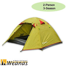 Weanas 2 Person 3 Season Waterproof Double Layer Dome Tent Hiking Camping Hiking
